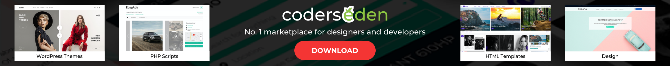 CodersEden Marketplace for designers and developers